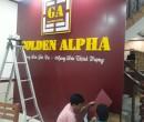 Bảng Hiệu Alu Chữ Mica Golden Alpha