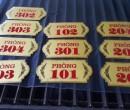 Bảng số phòng inox