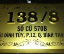 Bảng số nhà inox