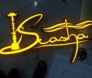 Logo mica nổi đèn led